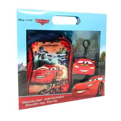 Set de regalo bandolera y llavero Cars Disney