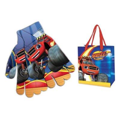 Guantes estampados Blaze y Los Monster Machines con bolsa
