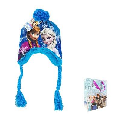 Gorro de invierno con trenza Frozen con bolsa regalo