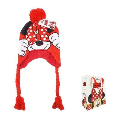Gorro de invierno con trenza Minnie Disney con bolsa regalo