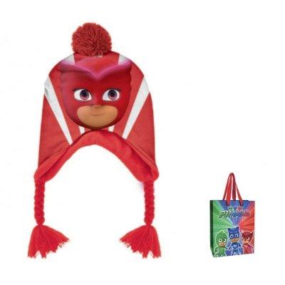 Gorro de invierno con trenza PJ Masks con bolsa regalo