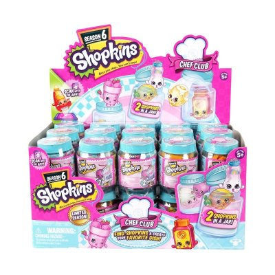 Pack 2 figuras en tarro Shopkins Club del Chef serie 6