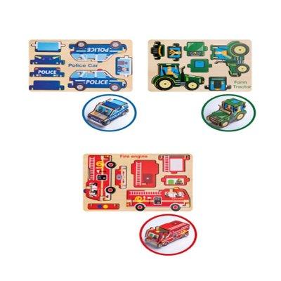 Wholesaler of Puzzle maqueta de madera encajable vehículo