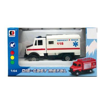 Miniatura vehículos servicios Die-Cast Metal 1:64 Ambulance