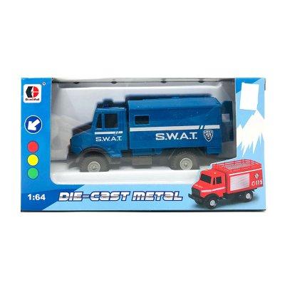 Miniatura vehículos servicios Die-Cast Metal 1:64 SWAT