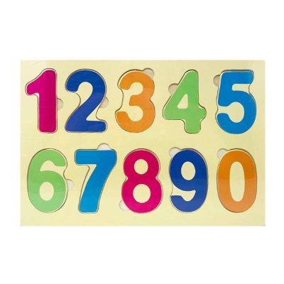 Puzzle madera encajable números 10pzs