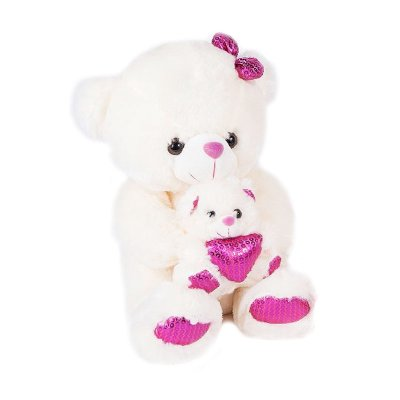 Distribuidor mayorista de Peluche oso corazón rosa 30cm