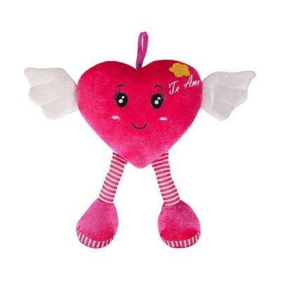 Peluche corazón con alas 23cm