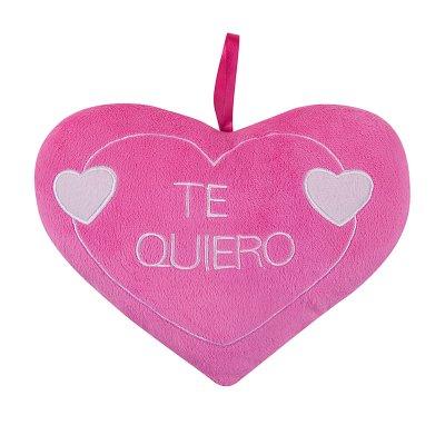Peluche corazón rosa 25cm