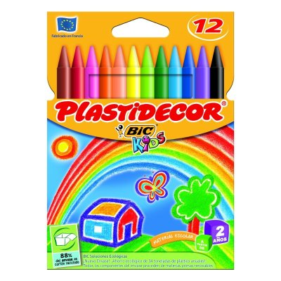Wholesaler of Caja de 12 ceras de colores Plastidecor Bic Kids