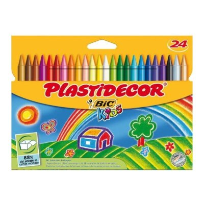 Wholesaler of Caja de 24 ceras de colores Plastidecor Bic Kids