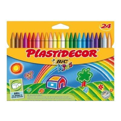 Caja de 24 ceras de colores Plastidecor Bic Kids