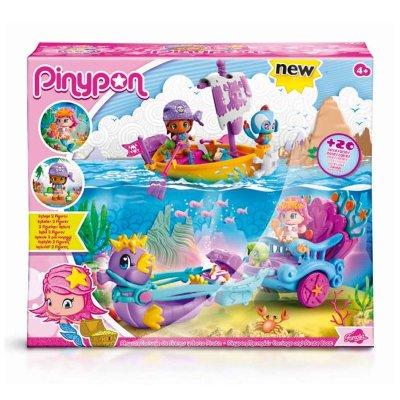 Playset Carruaje de Sirenas y Barco Pirata Pinypon