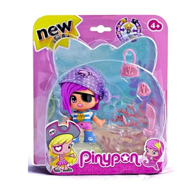 Figura Pinypon Piratas y Sirenitas - gorro morado