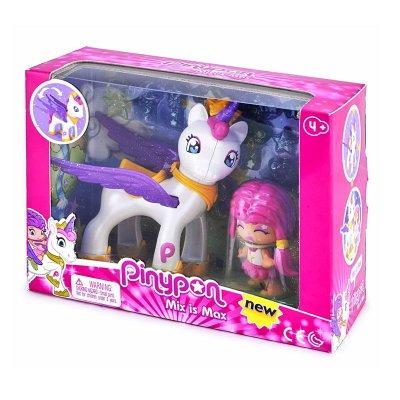 Figura Pinypon y su unicornio Mix is Max