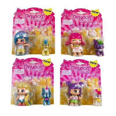Surtido 4 modelos de figuras Pinypon estrella y mascota