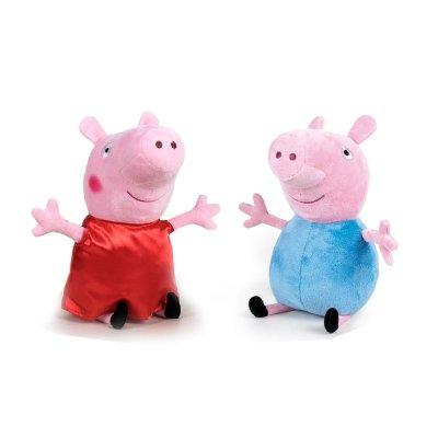 Peluches Peppa Pig & George 42cm
