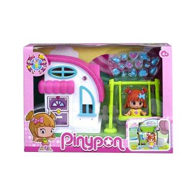 Minicasitas blanca Pinypon serie 2 - casita con columpio