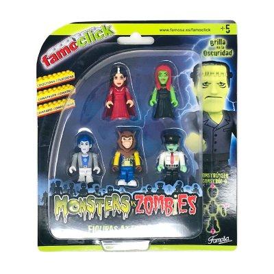 Wholesaler of Pack 5 figuras Famoclick Monsters vs Zombies - modelo 1