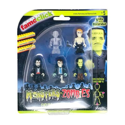Wholesaler of Pack 5 figuras Famoclick Monsters vs Zombies - modelo 2