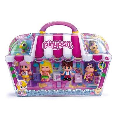 City Pack de Compras Pinypon 4 figuras y 2 mascotas