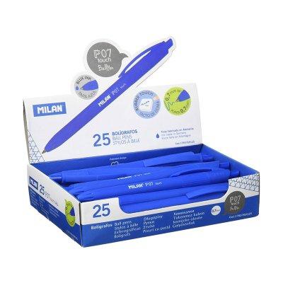 Bolígrafo Milan P7 Touch azul 7mm