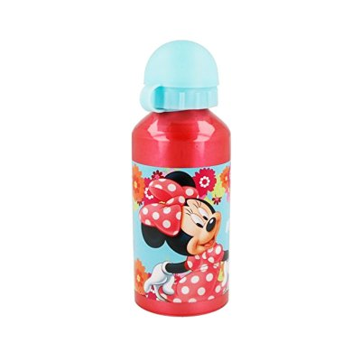 Botella aluminio 400ml Minnie Mouse