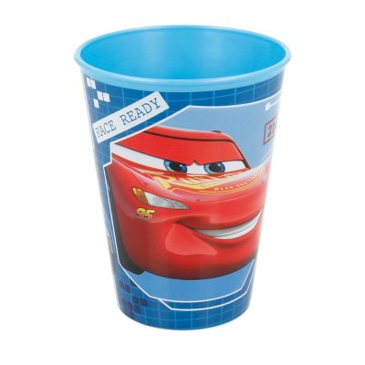 Vaso plástico 260ml Race Ready Cars