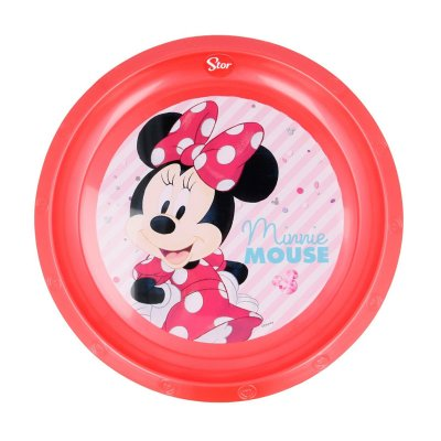 Plato plástico Minnie Mouse Happy