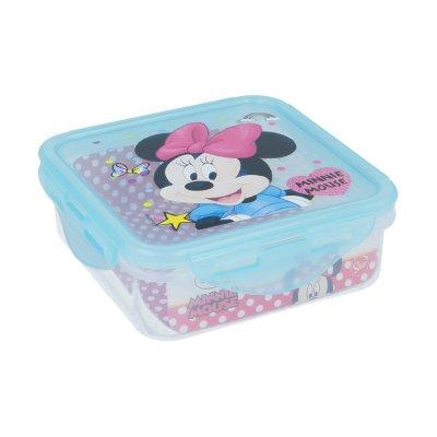 Recipiente cuadrado 500ml Minnie Mouse