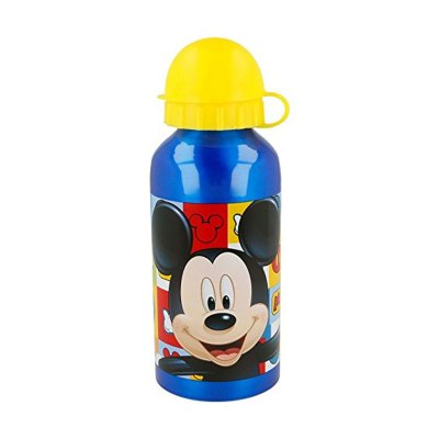 Botella aluminio 400ml Mickey Mouse