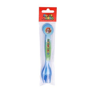 Set de cubiertos plástico Super Mario