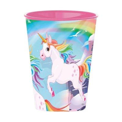 Vaso plástico 260ml Unicornio