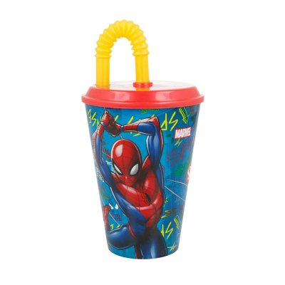 Wholesaler of Vaso con caña 430ml Spiderman Marvel