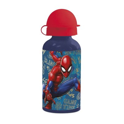 Botella aluminio 400ml Spiderman Marvel
