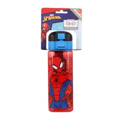 Botella robot c/cierre 550ml Spiderman Marvel