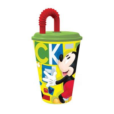 Vaso con caña 430ml Mickey Fun