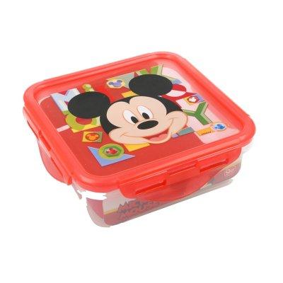 Recipiente cuadrado 500ml Mickey Mouse