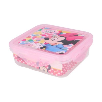Wholesaler of Recipiente cuadrado 500ml Minnie Mouse Feel Good