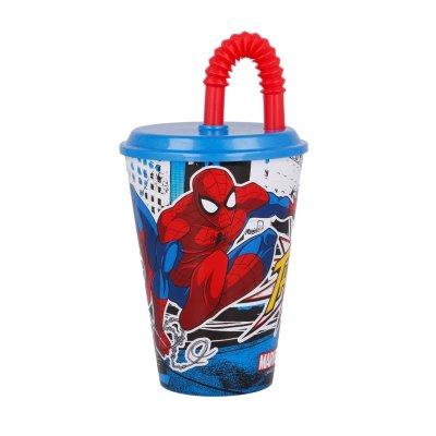 Wholesaler of Vaso con caña 430ml Marvel Spiderman