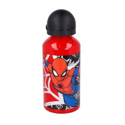 Botella aluminio 400ml Spiderman Urban Web