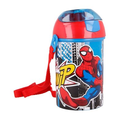 Botella robot pop up 450ml Spiderman Marvel