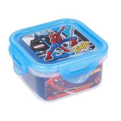 Recipiente cuadrado 290ml Spiderman Marvel