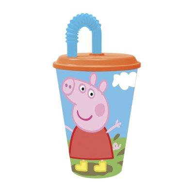 Wholesaler of Vaso con caña 430ml Peppa Pig
