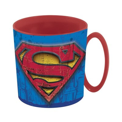 Taza plástico microondas 360ml Superman