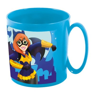Taza plástico microondas 360ml DC Super Hero Girls