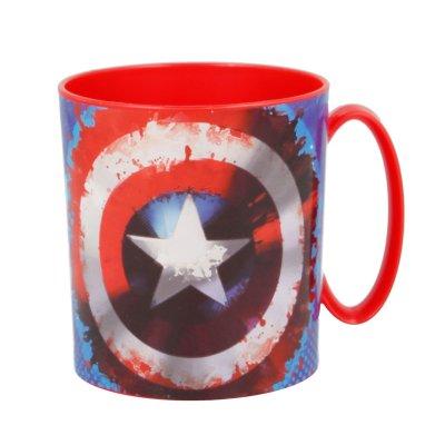 Taza plástico microondas 350ml Capitán América Marvel