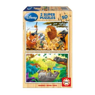 Puzzles madera Animal friend 2x50pzs