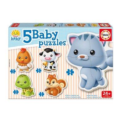 Baby Puzzle Animales 5x2/5pzs