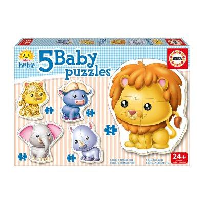 Baby Puzzle Animales salvajes 5x2/5pzs